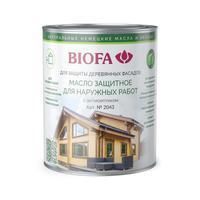 Масло для дерева, Биофа 2043 (Масло защитное для наружных работ с антисептиком Biofa)
