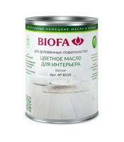 Масло для дерева, белое Биофа 8510 (Цветное масло для интерьера Biofa Color-Oil)