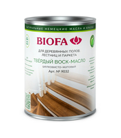 Твердый воск-масло для дерева, профессиональный шелковисто-матовый Biofa 9032 (Биофа 9032)