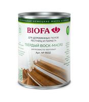 Твердый воск-масло для дерева, профессиональный шелковисто-матовый Biofa 9032 (Биофа)