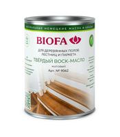 Твердый воск-масло для дерева, профессиональный матовый Biofa 9062 (Биофа 9062)